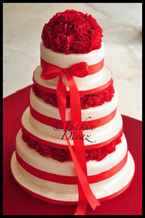 3 Tier Elegant Wedding Cake Dated 30th May 2010