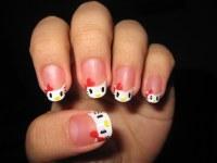 Hello Kitty nail art | Hello Kitty! hehe I tried my best ...