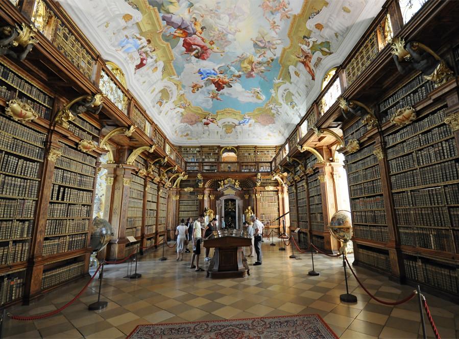 Melk Abbey The Library  Melk Abbey or Stift Melk is an Aus  Flickr