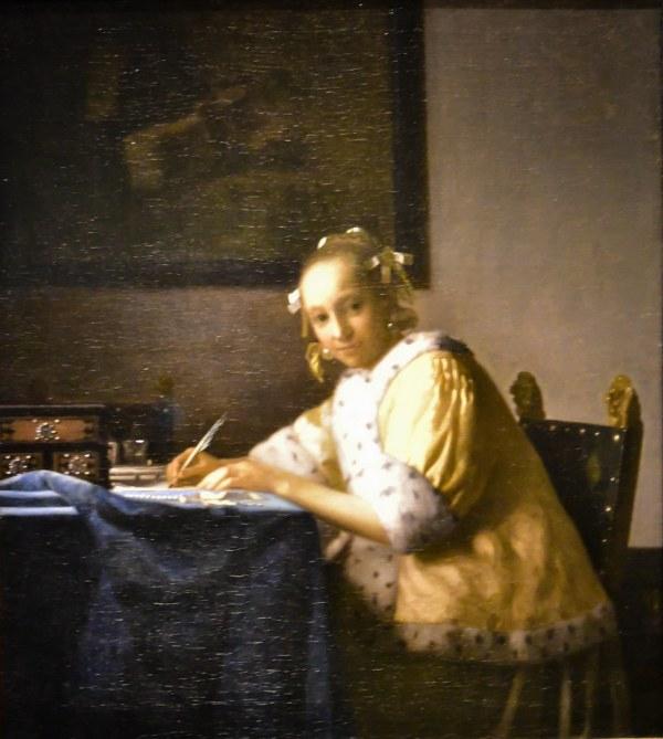Johannes Vermeer - Lady Writing National Art