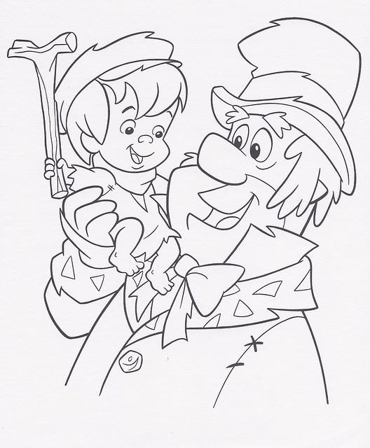 A Flintstones Christmas Carol coloring sheet, 1995