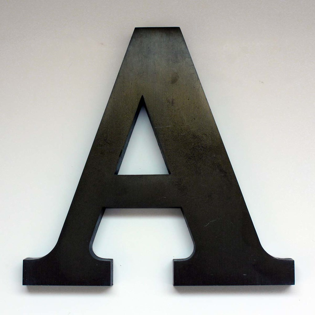 Letter A Large2  This is a vintage letter A from the