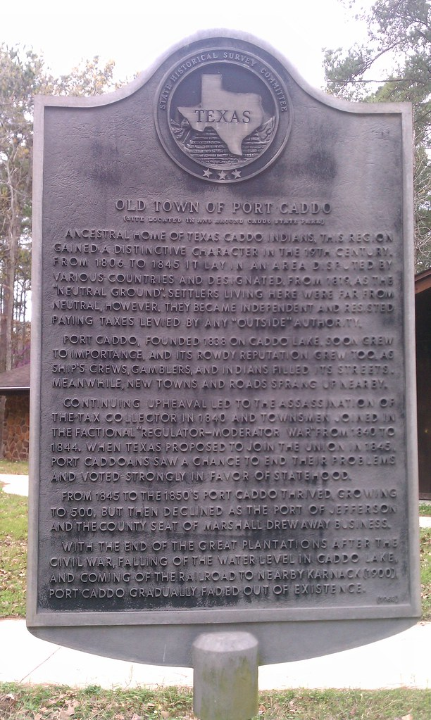 Old Town of Port Caddo Karnack Texas Historical Marker