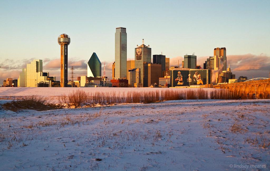 Dallas Skyline  Superbowl XLV  Dallas Skyline Dallas TX
