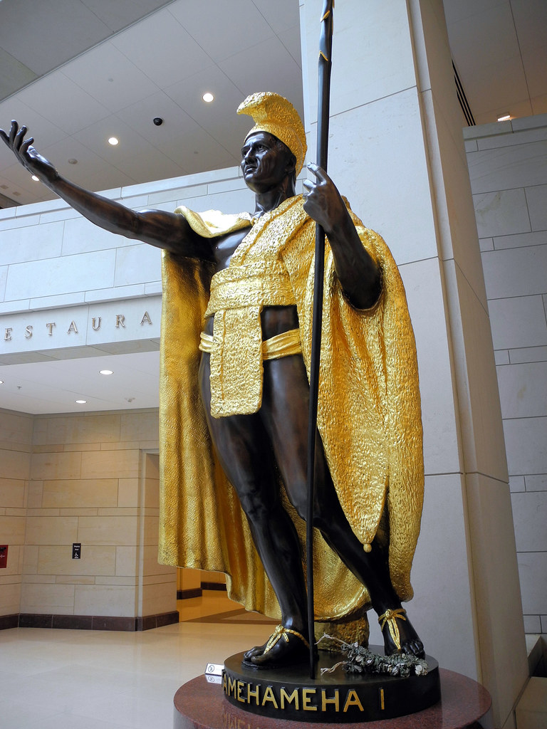 King Kamehameha I Hawai statue in the US Capitol Visitor  Flickr