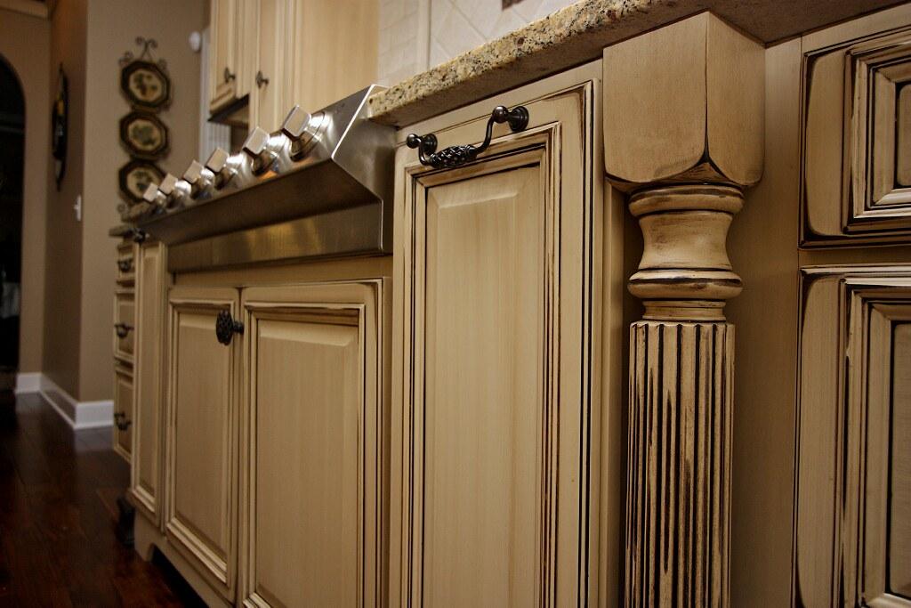 Kitchen cabinets glaze and distress 18  Superior