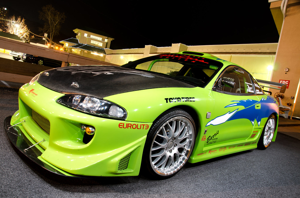 Cars Wallpaper Infront Of Skyline Real Fast And The Furious Eclipse The Fast And The
