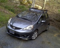 2011 Honda Fit Sport- Thule 480 Traverse Rack | Got my ...