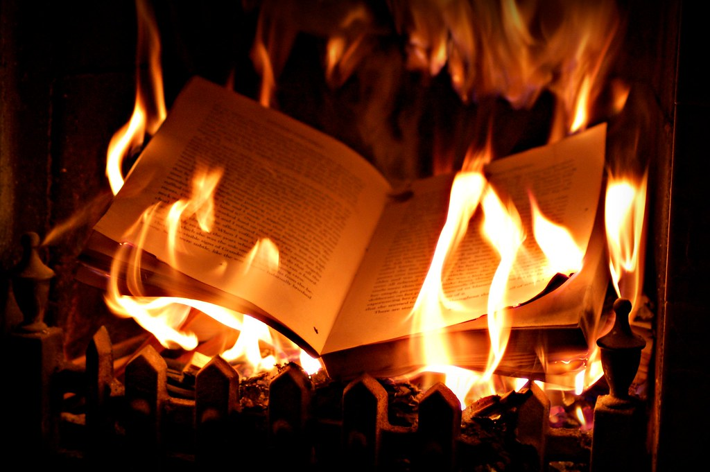Burning book  Photos taken for an up and coming