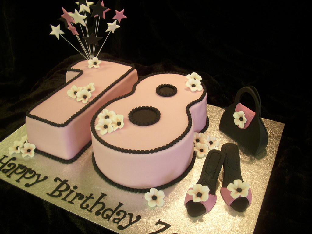 18th Birthday Cake  Hand carved sponge cakes decorated with  Flickr