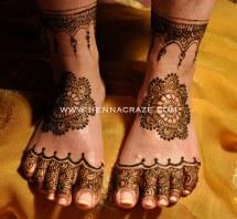Henna On Feet for Wedding