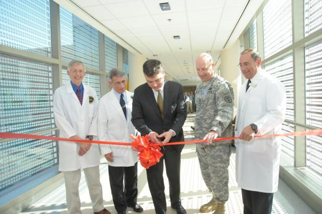 Stewart Simonson cutting ribbon to new SCSU  NIAID research  Flickr