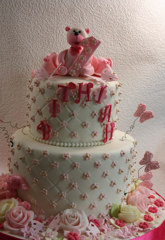 Free Girly Girl Wallpapers Birthday Cake For A One Year Old Super Girly Birthday