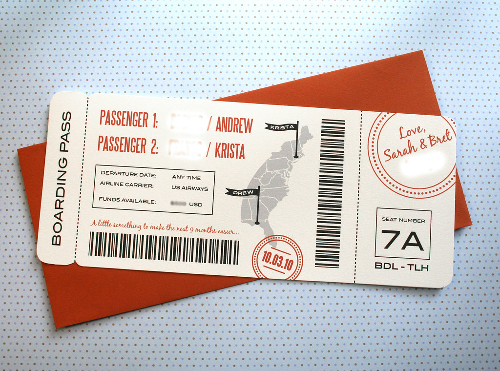 Boarding Pass Gift Tag I Made This For My Brother And