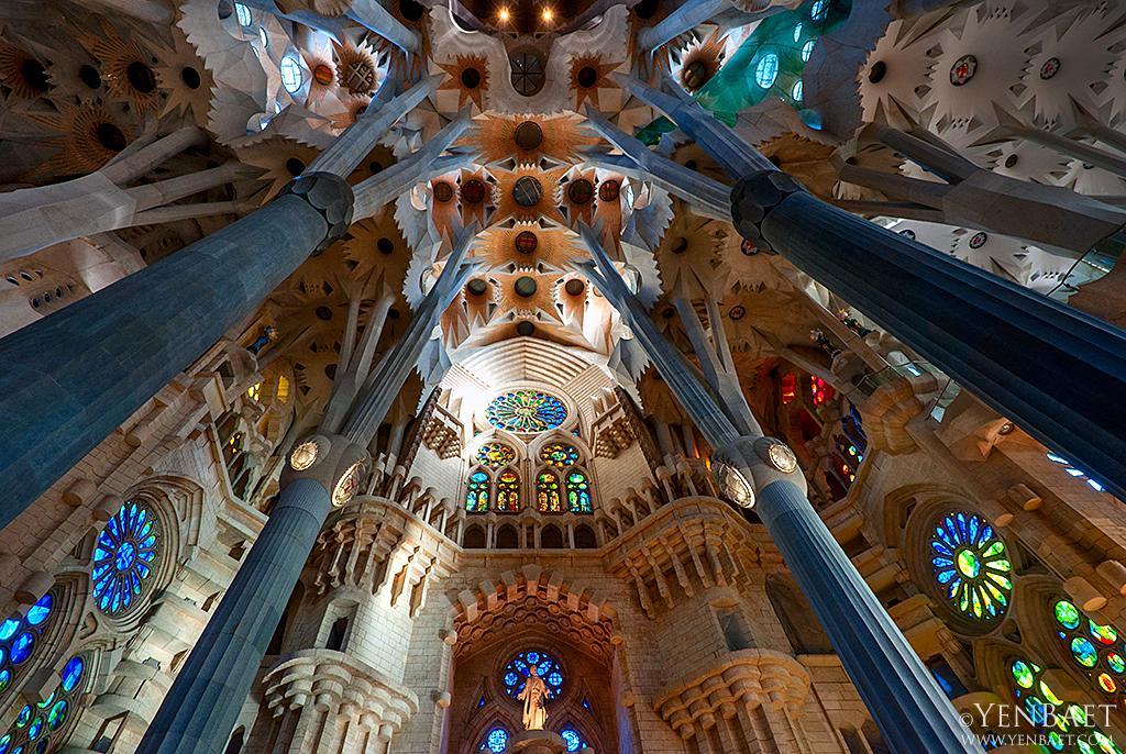 Barcelona  Sagrada Familia Interior  Sagrada Familia