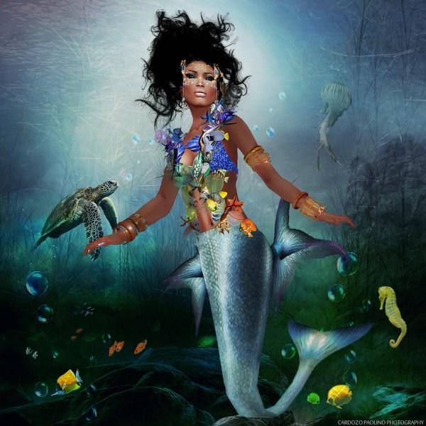 Goddess African American Mermaid