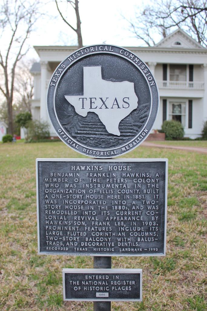 Hawkins House Waxahachie Texas Historical Marker  Flickr