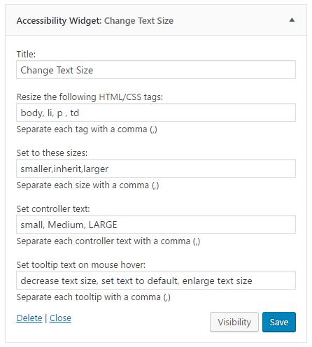 WordPress Accessibility Widget v.2