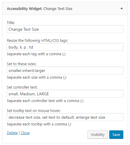 WordPress Accessibility Widget v.2