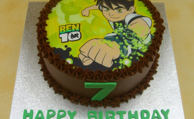 Ben 10 Birthday Cake 7th Birthday Chocolate Fudge Cake