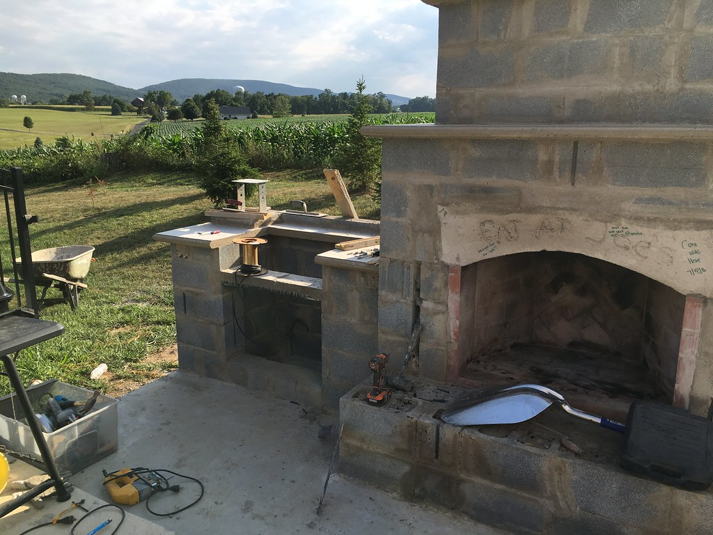 Outdoor FireplaceGrill  Project Showcase  DIY Chatroom Home Improvement Forum