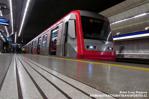Metro de Santiago - Alstom AS2002 R4444 - Tobalaba (L4)