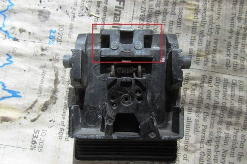Latch Casting Missing Top Plate To Secure Lock Mechanism