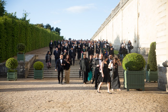 Guests at Martell's 300 Year Anniversary Celebrations in Versailles