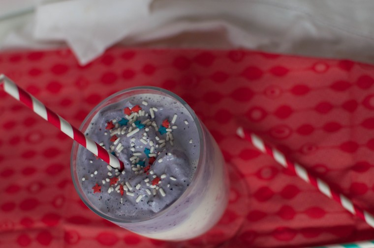 Red, White and Blue Milkshake 1