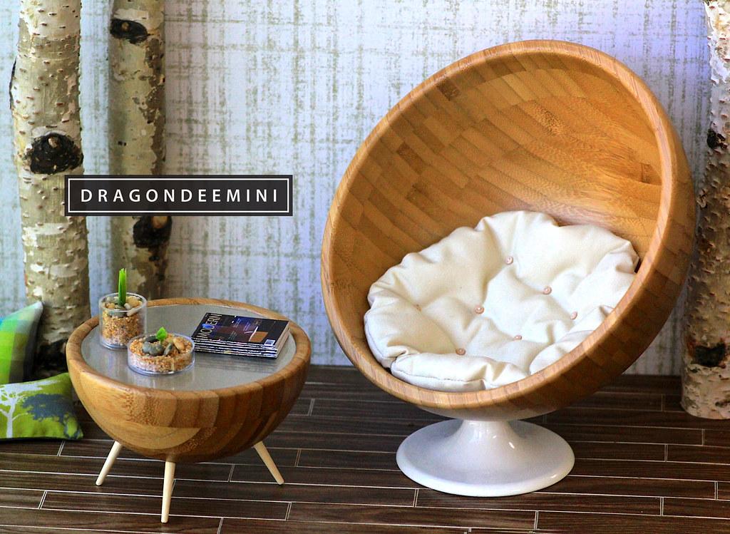 ikea egg chair desk seat cushion my hack! | i turned blanda matt bowls into midcent… flickr
