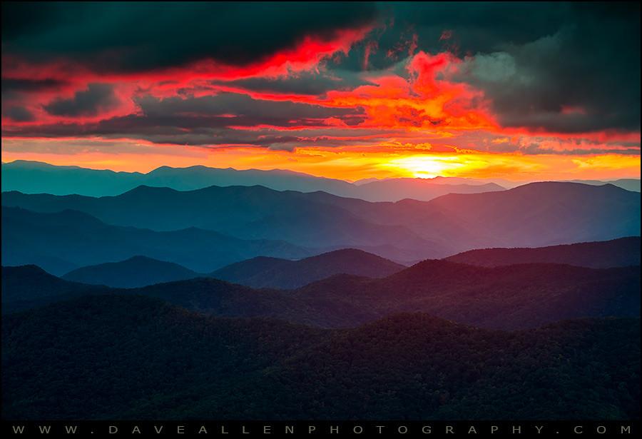 Smoky Mountains Fall Wallpaper Blue Ridge Mountains Sunset The Burning Eye Blue Ridge