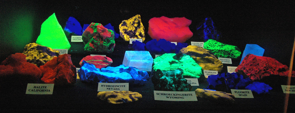 Fluorescing Minerals & Rocks 1 Public Display Dakota