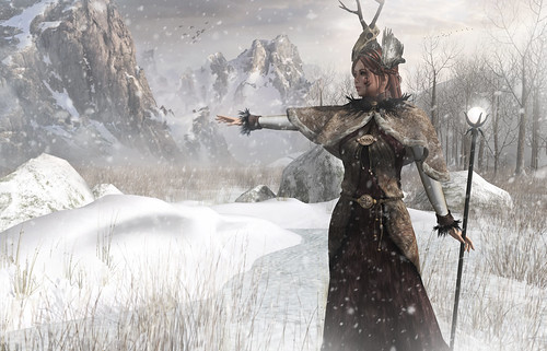 { She leads in the cold of winter }
