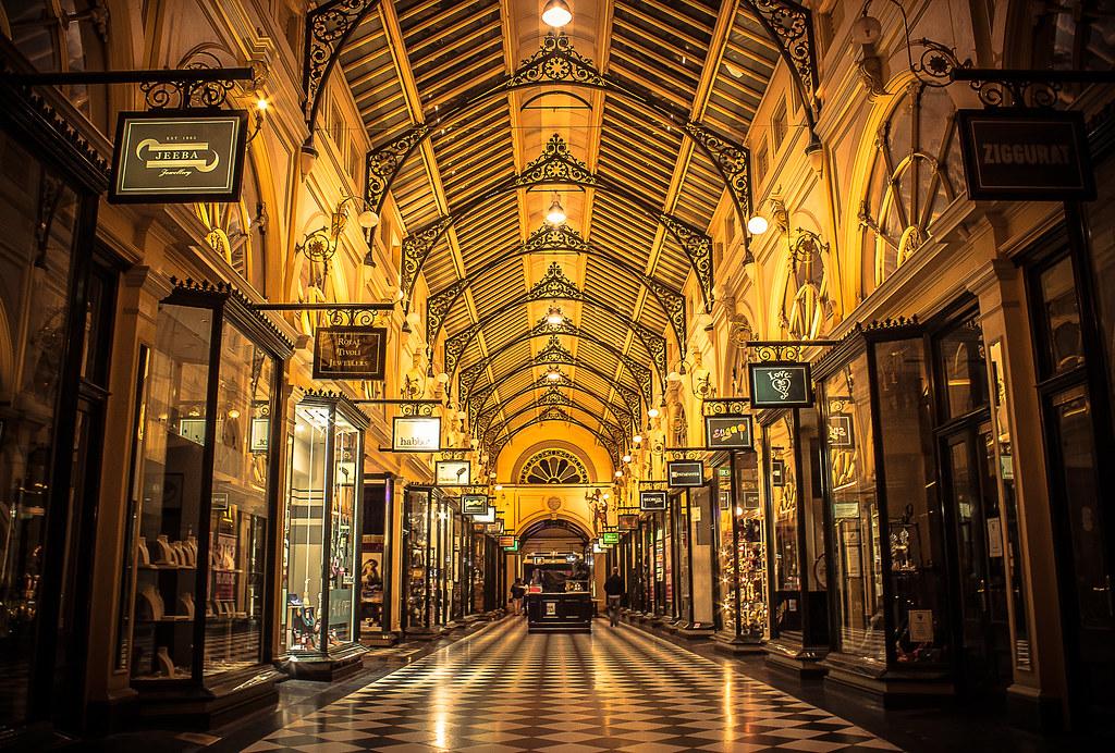Royal Arcade  Melbourne Looking towards Bourke Street Ma