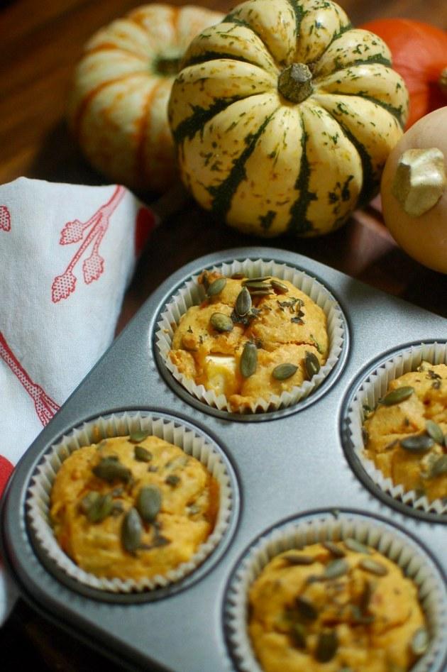 Pumpkin Feta Muffins
