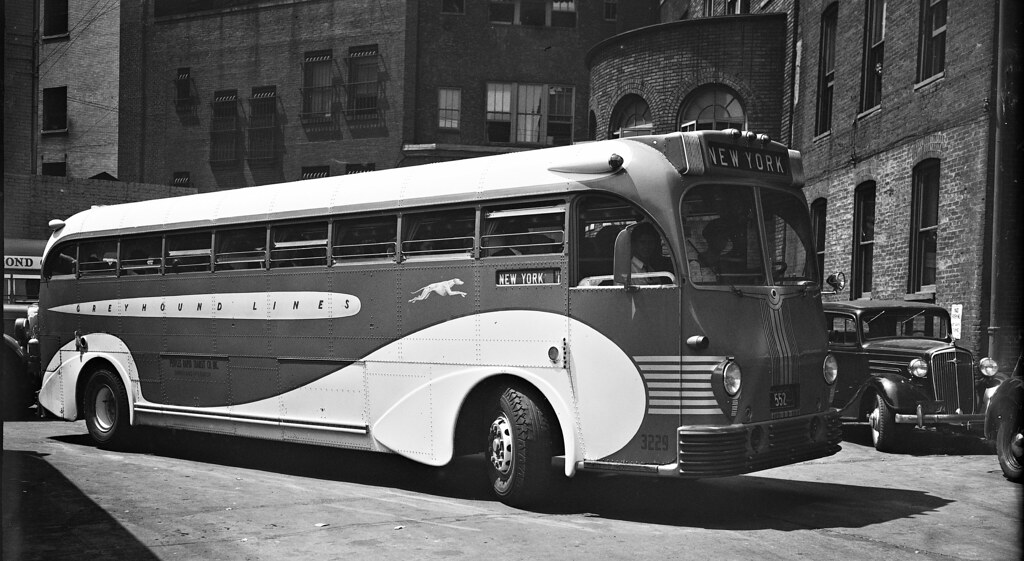 Greyhound Bus departing for New York City  1937 LOC33575u  Flickr