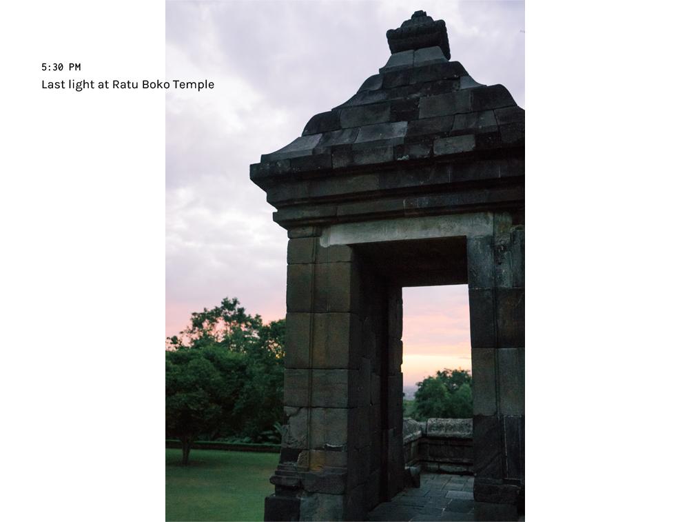 sunset ratu boko temple yogyakarta