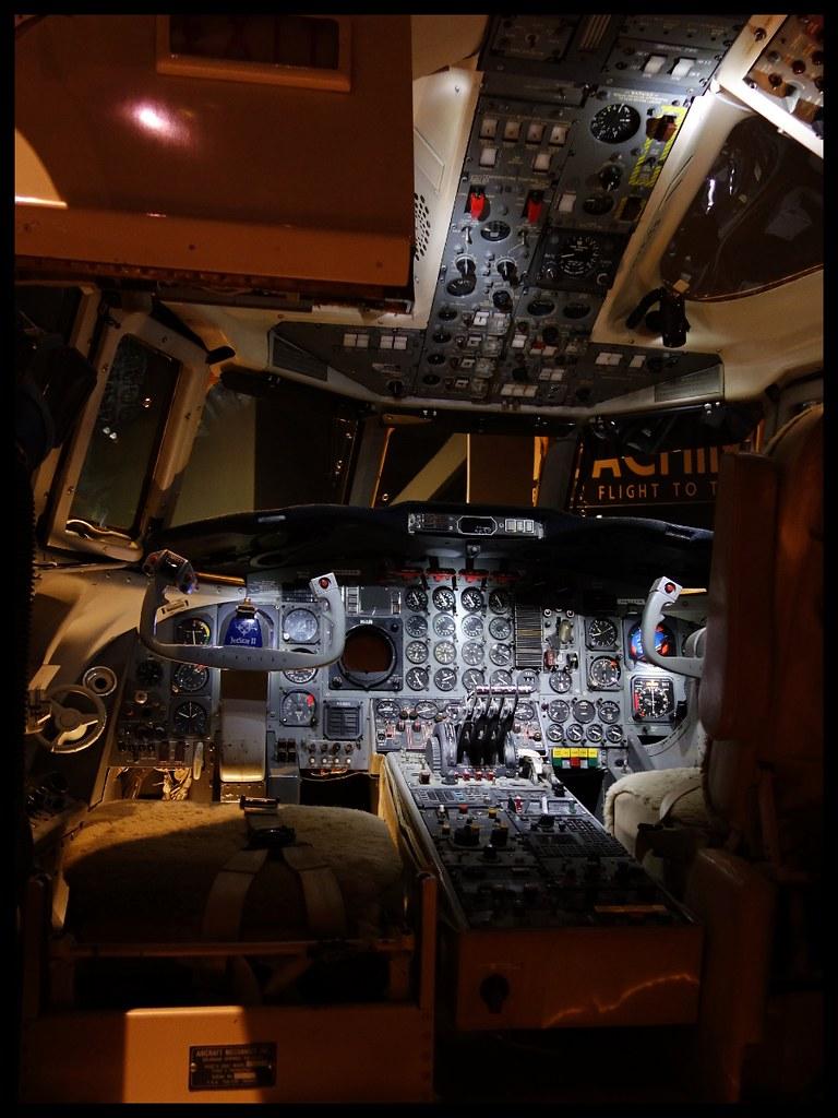 Cockpit of a 1967 Lockheed JetStar II  Tellus Science Mus