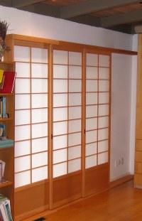 Shoji doors #13   3 panel shoji sliding doors over sliding ...