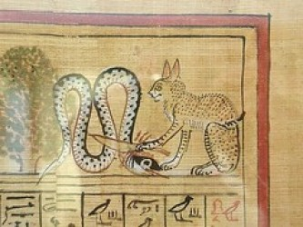 3 Ancient Cat Breeds with a Story - Ra slaying Apophis (British Museum)
