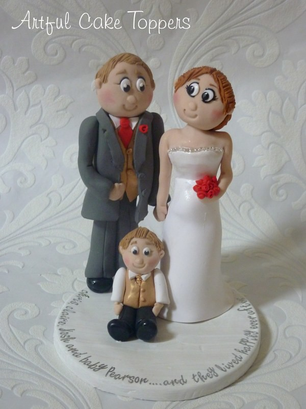 Family Clay Personalised Wedding Cake Topper Bride Mum