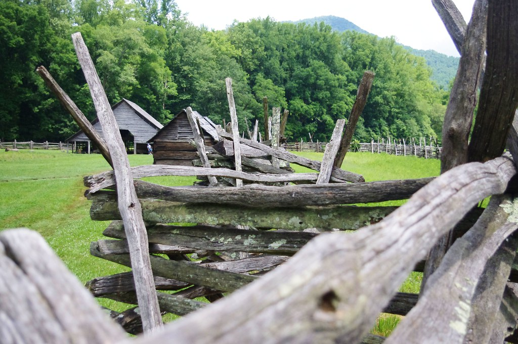 Split-rail Fence, Mountain Farm Museum, Great Smokey Mountains National Park, near Cherokee, North Carolina, June 15, 2012 (Pentax K-r)
