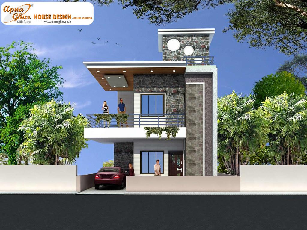 Duplex House Design  Modern Duplex House Design in 126m2