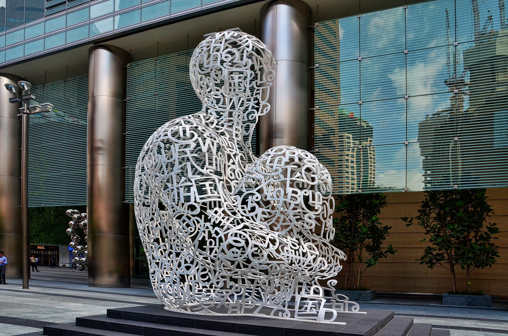 Singapore Soul  The seated human figure is made of