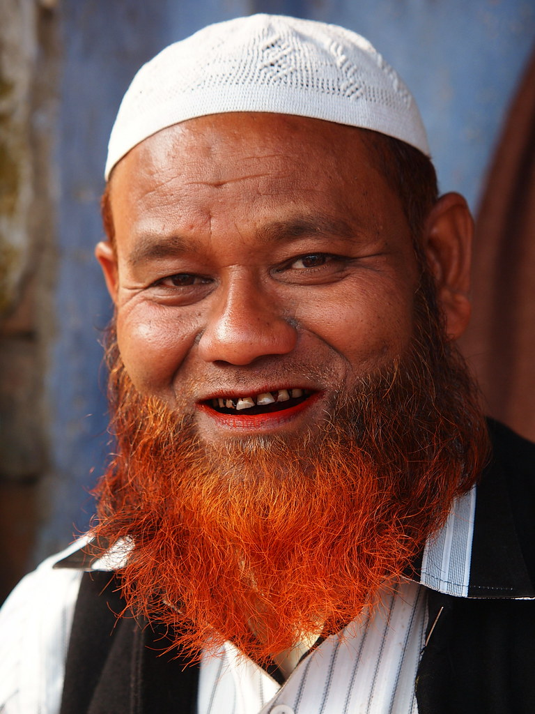 Lucknow Muslim Man With Coloured Beard Stefan H Flickr