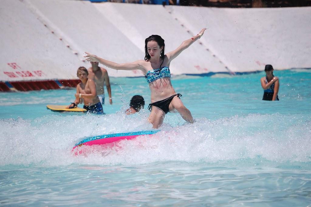 boogieboarding girl waterpark gopro summer  HIRH_MOM
