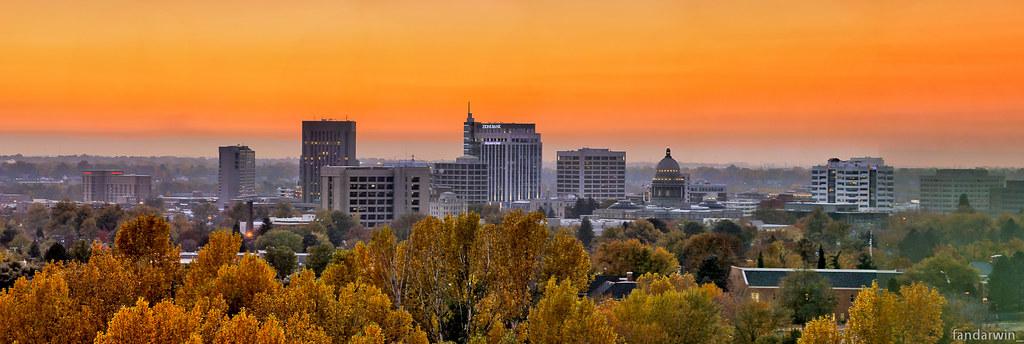 Boise City Skyline Fall  Darwin Fan  Flickr