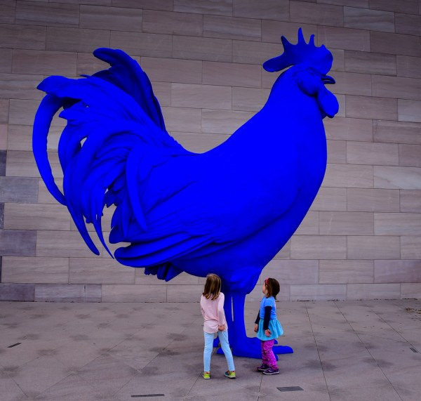 Katharina Fritsch - Electric Blue Rooster Hahn Cock 201