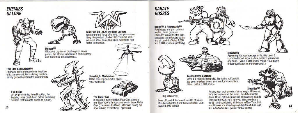 ULTRA GAMES :: TEENAGE MUTANT NINJA TURTLES .. manual pgs