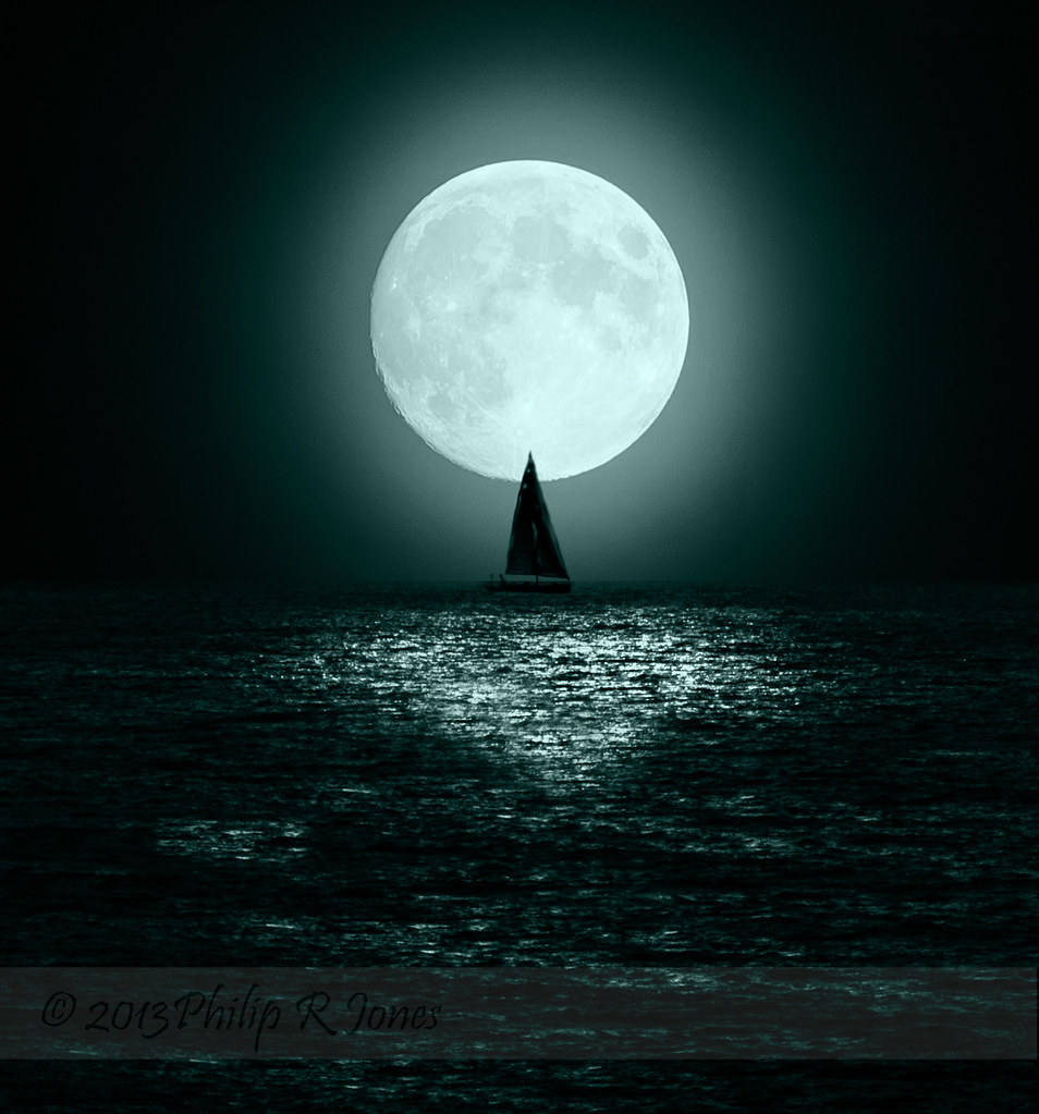 Sailing By Moonlight PP Info Composite Of 3 Shots Moon